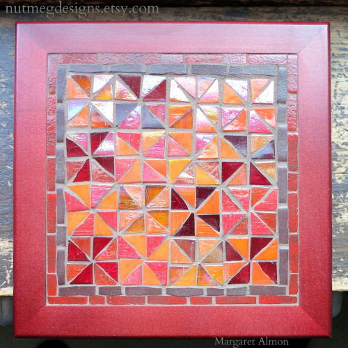Pinwheel Quilt Block Mosaic by Margaret Almon
