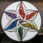 Color Wheel Mosaic Mandala by Nutmeg Designs