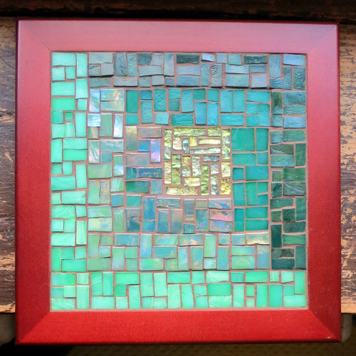 Asymmetric Log Cabin Mosaic by Margaret Almon