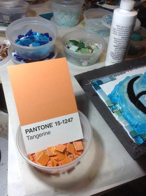 Tangerine Glass Tiles