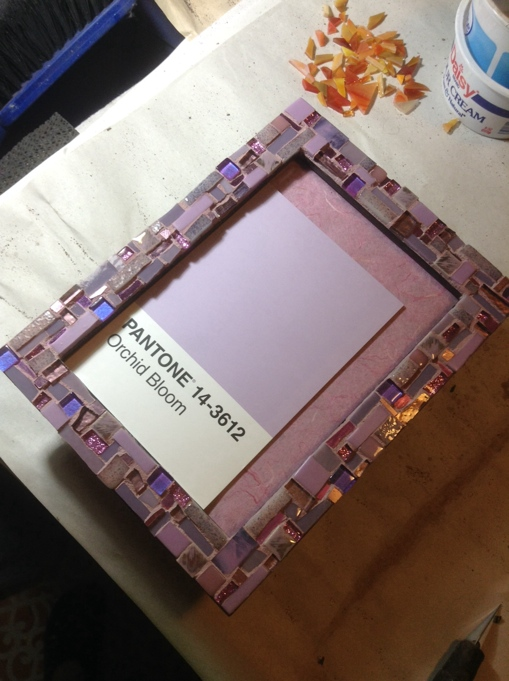 Orchid Bloom Frame by Margaret Almon