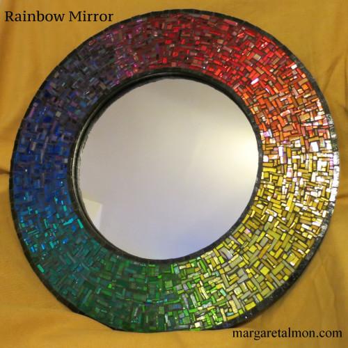 Circular Rainbow Mirror by Margaret Almon