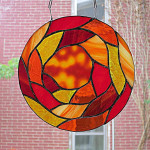 Sophia Spiral in a Blaze of Orange by Wayne Stratz.