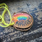 Rainbow Nametag from Junior High Camp, circa 1980.