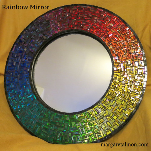 Round Rainbow Mirror Commissioned from Nutmeg Designs
