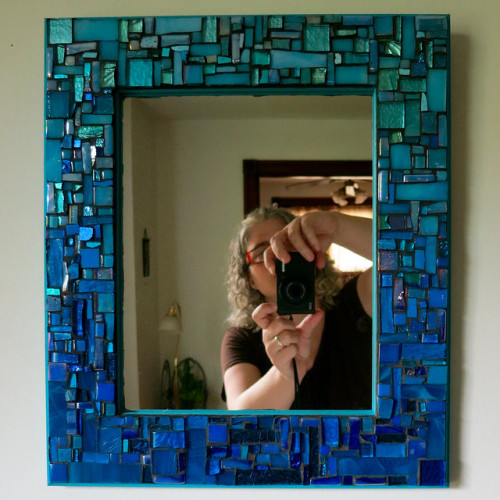Ocean Blue Mirror by Margaret Almon