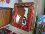 Getting Ready for Wilmington: Orange Ombre Mirror