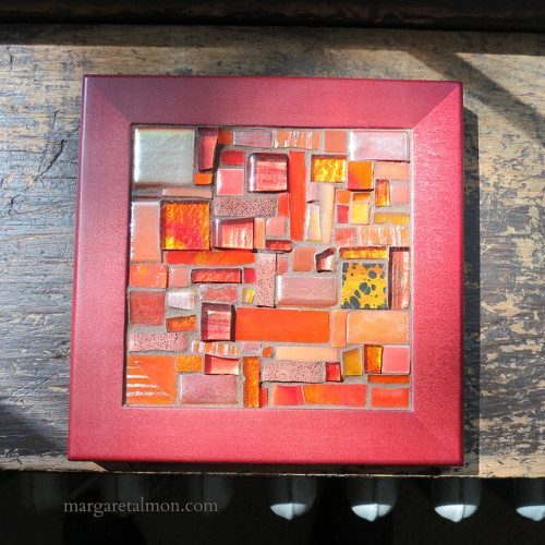 Orange Patchwork Trivet by Margaret Almon