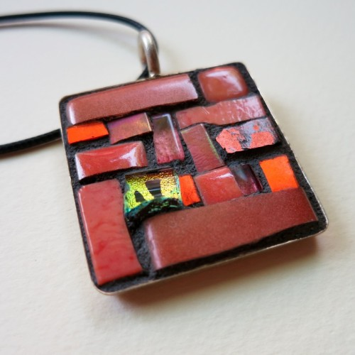 Orange pendant by Margaret Almon