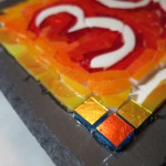 Ombre Orange in the Studio for a Colorful House Number