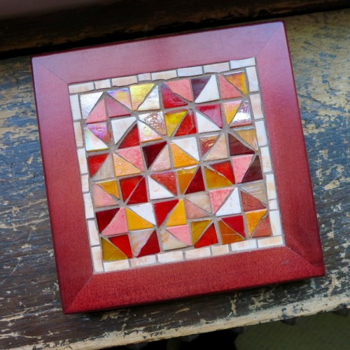 Broken Dishes Quilt Block Trivet by Margaret Almon