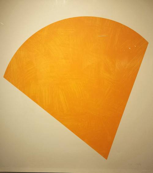 Untitled (Orange) by Ellsworth Kelly.