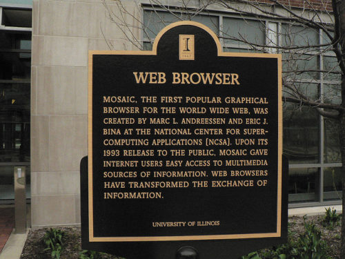 NCSA Plaque for Mosaic Browser