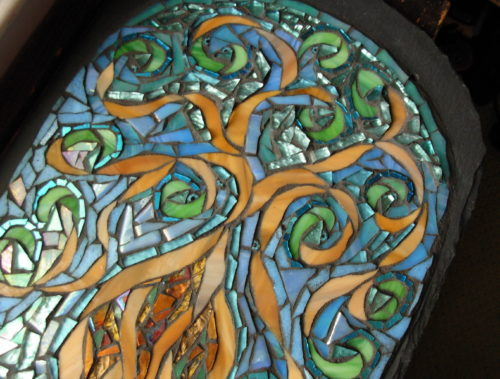 Mosaic Interpretation of Suzi Beber's Tree of Life by Nutmeg Designs