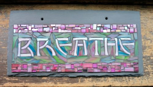 Breathe Mosaic Word Sign