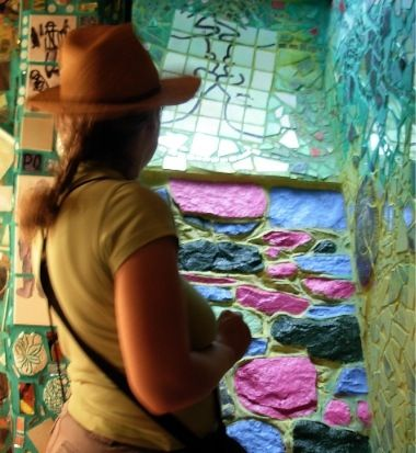 Margaret Almon at Magic Gardens. Photo by Joanne Leva Mosemann.