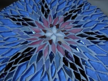 Morning Glory Mosaic Mandala by Margaret Almon.