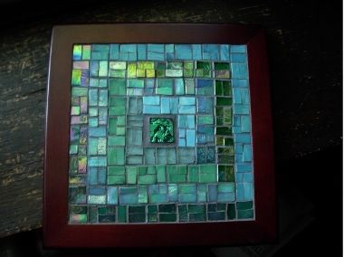 Log Cabin Mosaic Trivet by Margaret Almon