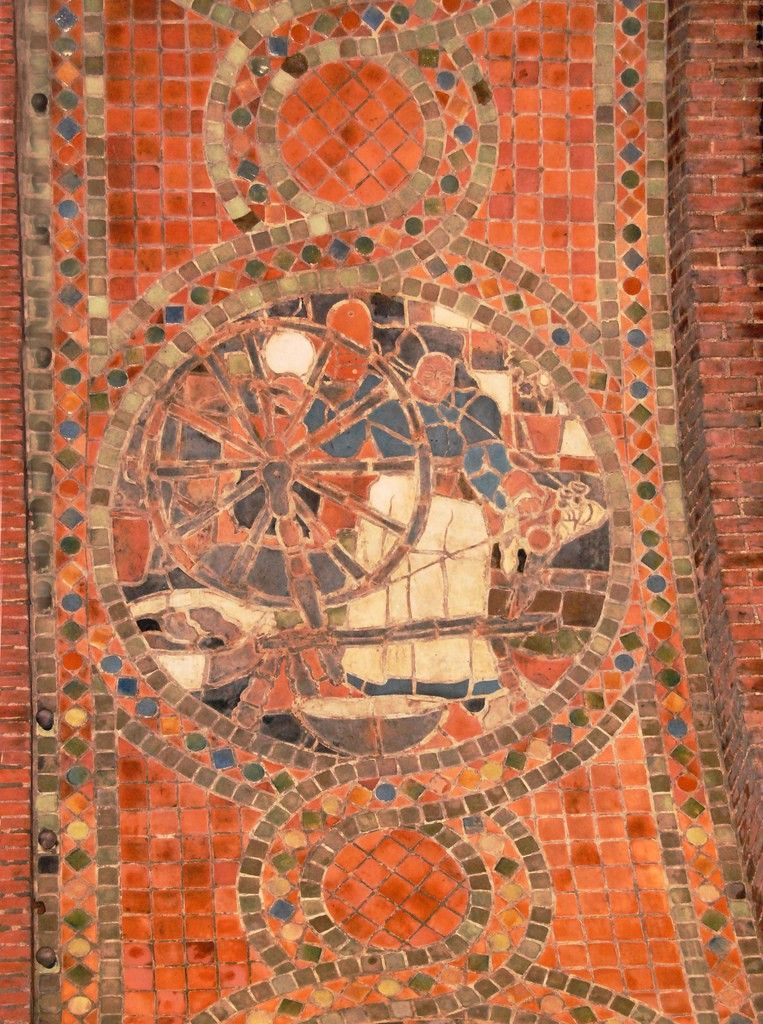Spinning Mosaic by Henry Mercy Moravian Tileworks