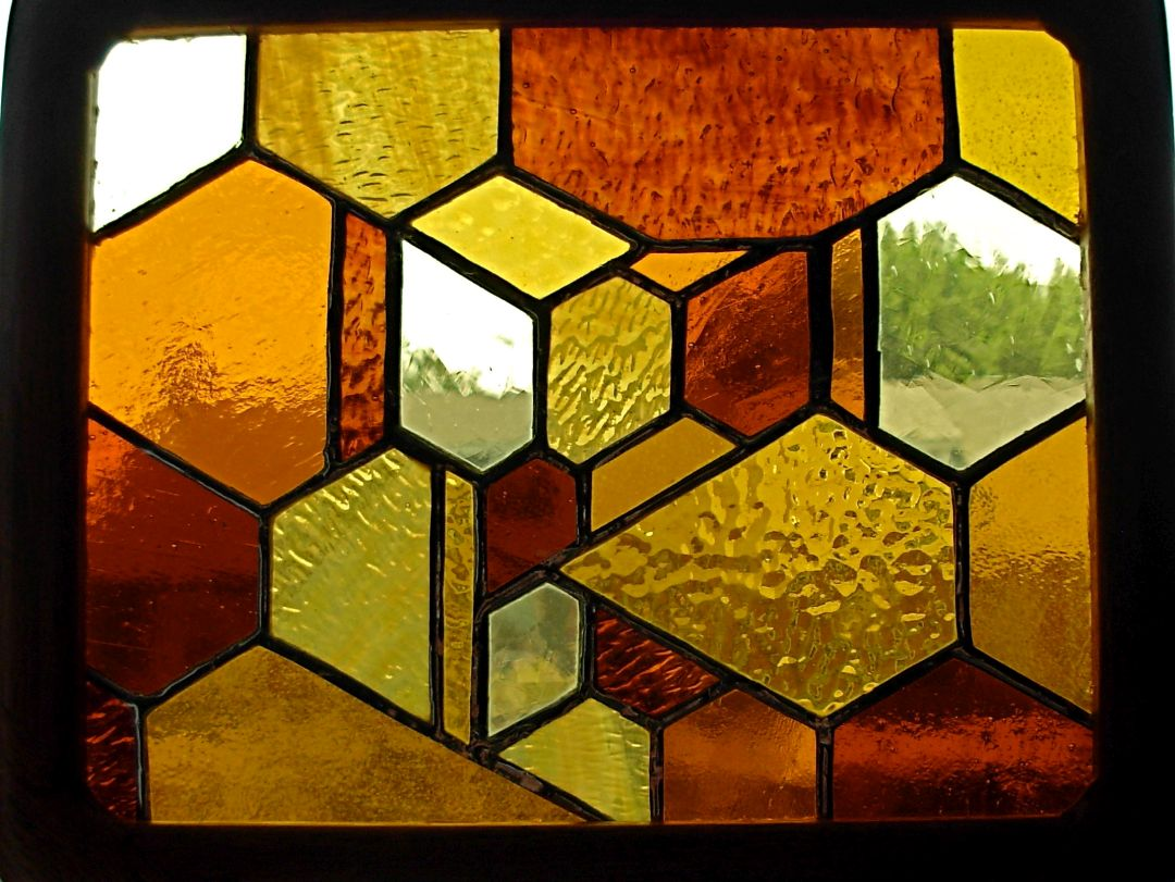 Kathryn's Totally Organic Stained Glass by Wayne Stratz