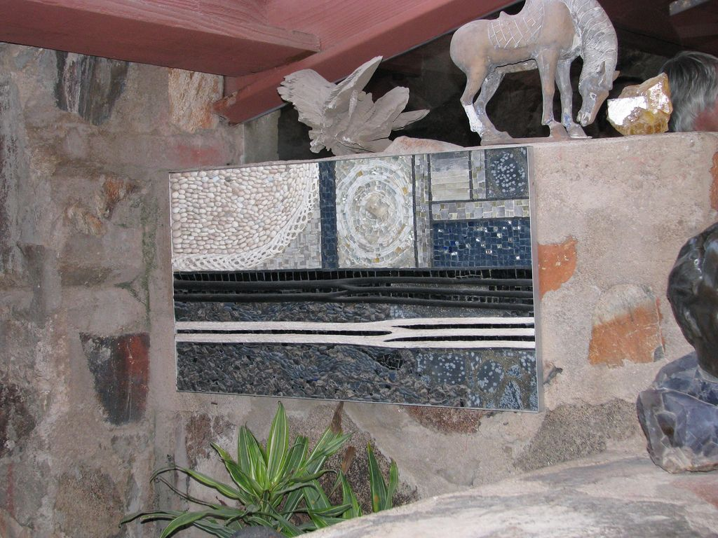 Mosaic at Taliesin West by Clare Booth Luce