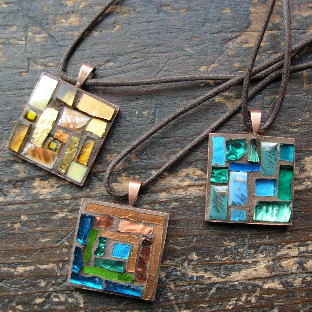 Mosaic Pendants by Margaret Almon