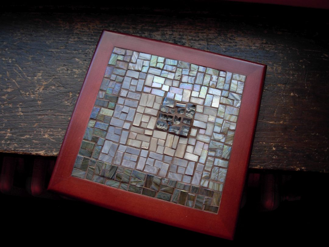 Asymmetric Log Cabin Mosaic in Earthtones by Margaret Almon