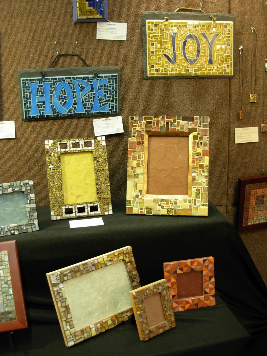 Margaret Almon Mosaics at the Nutmeg Designs Booth