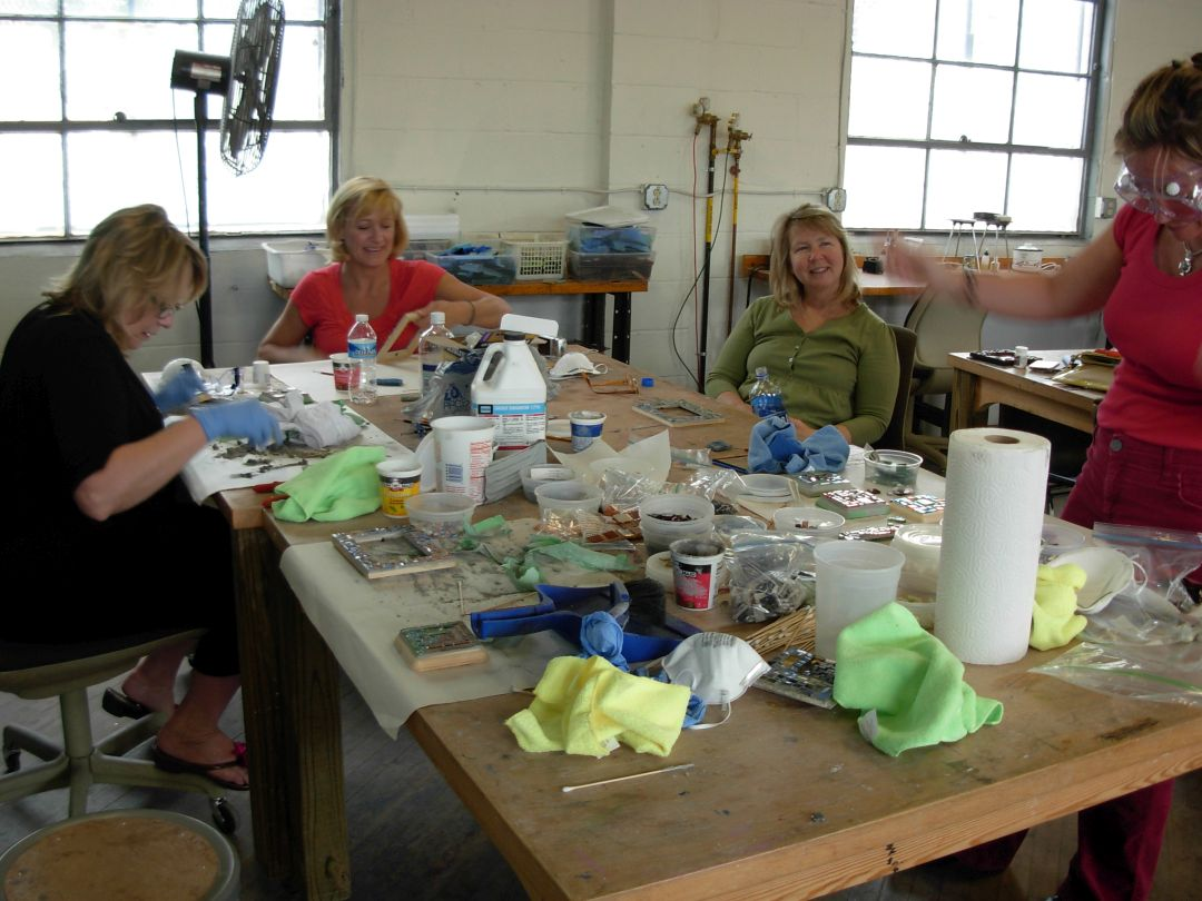 Glass Mosaic Basics Class with Margaret Almon