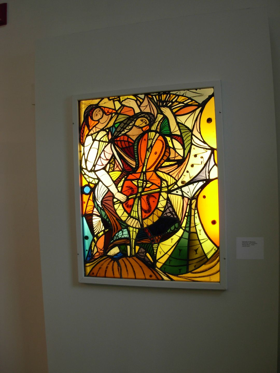 Making Music, Stained Glass by Gabriella Polony-Mountain, 1950's