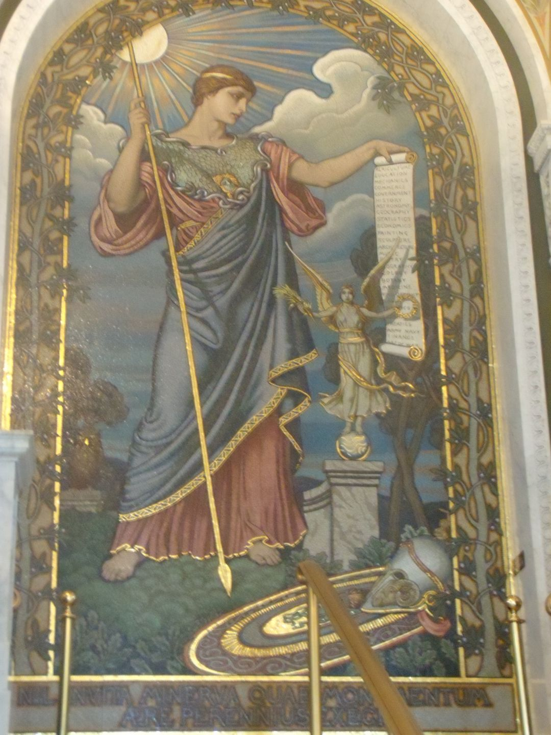 Minerva Mosaic Library of Congress by Elihu Vedder, Full View