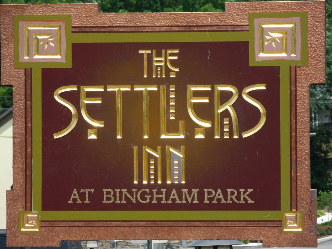 The Settlers Inn Sign in Hawley PA