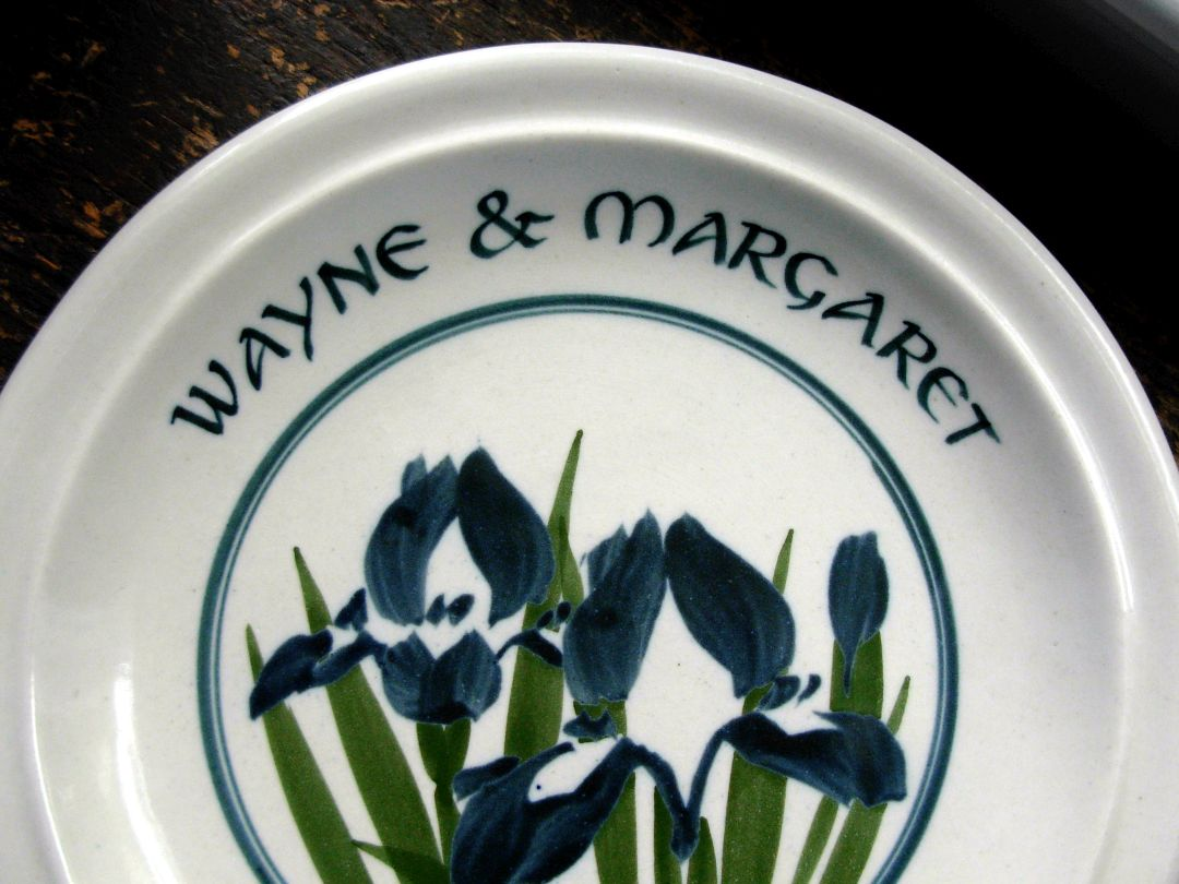 Wedding Plate for Margaret and Wayne's Wedding June 11, 1992