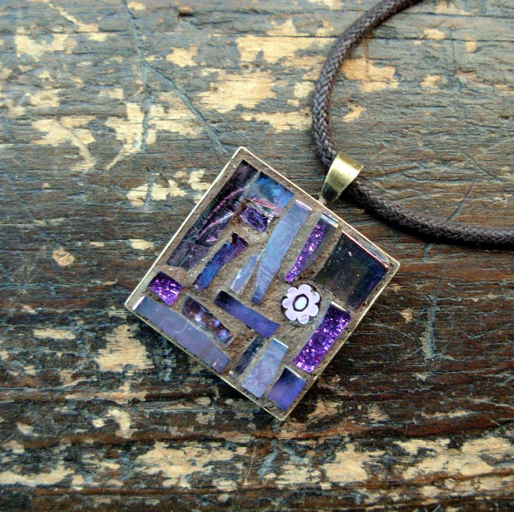 Birthstone inspiration for february amethyst violet mosaic pendant february amethyst inspiration pendant by margaret almon aloadofball Choice Image